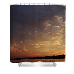Sun Settles On Connecticut Shower Curtain by Karol Livote