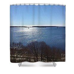 Sun Shiny Casco Bay Shower Curtain