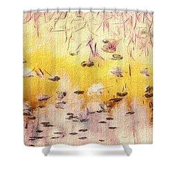 Sun Shower Shower Curtain by William Wyckoff