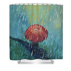 Shower Curtain featuring the painting Sun Showers by Lisa DuBois