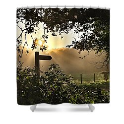 Sun Sign Shower Curtain