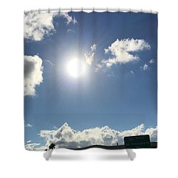 Sun Sky Angel Shower Curtain