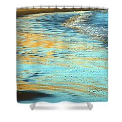 Sun Splashed Waves At Point Reyes National Seashore California Shower Curtain