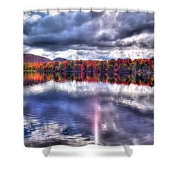Shower Curtain featuring the photograph Sun Streaks On West Lake by David Patterson