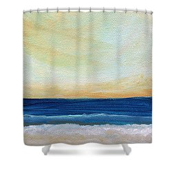 Sun Swept Coast- Abstract Seascape Shower Curtain