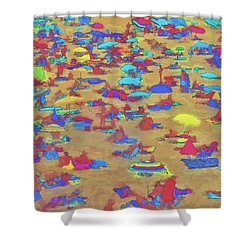 Sun Umbrellas Shower Curtain