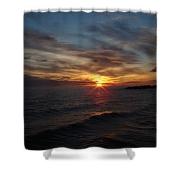Shower Curtain featuring the photograph Sun Up by Bonfire Photography