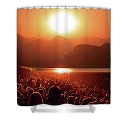 Shower Curtain featuring the photograph Sun Worshipers by Christopher McKenzie