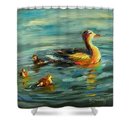 Ducksie Chicks Shower Curtain