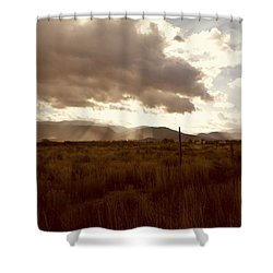 Sun Beams Over The Mountain Shower Curtain