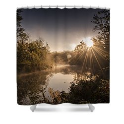 Sunbeams  Shower Curtain by Annette Berglund