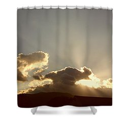 Trumpeting Triumphantly Sunrise Shower Curtain