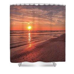Shower Curtain featuring the photograph Sunburst At Sunset by Doug Camara