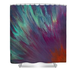 Sunburst Aura Shower Curtain