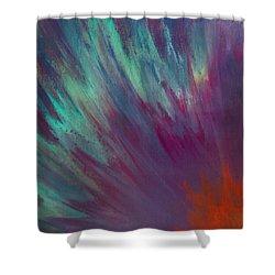 Sunburst Aura Shower Curtain