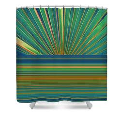 Shower Curtain featuring the photograph Sunburst by Michelle Calkins