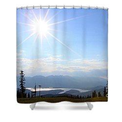 Sunburst Over Lake Dillon Shower Curtain