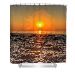 Sunburst Sundown Shower Curtain