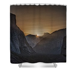 Sunburst Yosemite Shower Curtain by Bill Roberts