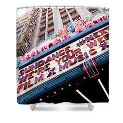 Sundance Next Fest Theatre Sign 3 Shower Curtain