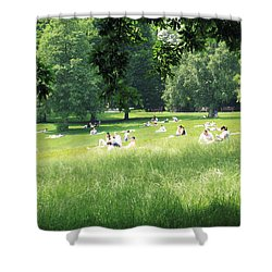 Sunday Afternoon At Waterlow Park Shower Curtain by Helga Novelli