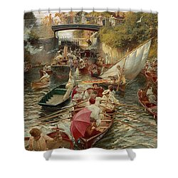Sunday Afternoon Shower Curtain by Edward John Gregory