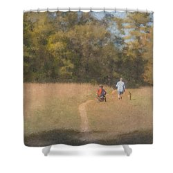 Sunday Afternoon Walk Shower Curtain