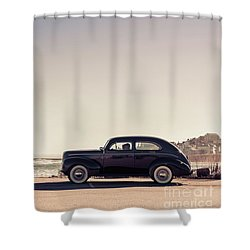 Shower Curtain featuring the photograph Sunday Drive To The Beach by Edward Fielding