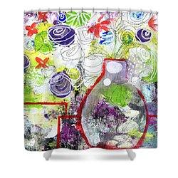 Sunday Market Flowers 3- Art By Linda Woods Shower Curtain by Linda Woods