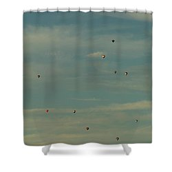 Sunday Meeting Shower Curtain