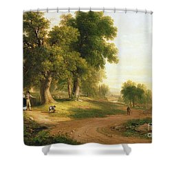 Sunday Morning Shower Curtain by Asher Brown Durand