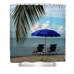 Sunday Morning At The Beach In Key West Shower Curtain