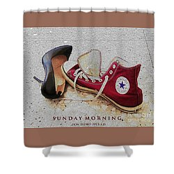 Sunday Morning Shower Curtain by Don Pedro De Gracia