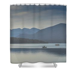 Sunday Morning Fishing Shower Curtain by Chris Lord