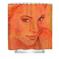 Shower Curtain featuring the painting Sunday by P J Lewis