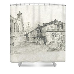 Sunday Service - No Borders Shower Curtain