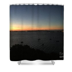 Sunday Sunrise, October 4, 2015, Casco Bay, Portland, Maine Shower Curtain