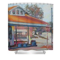 Sunday Traffic Shower Curtain by Carol Strickland