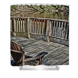 Shower Curtain featuring the photograph Sundeck With A View by Greg Jackson