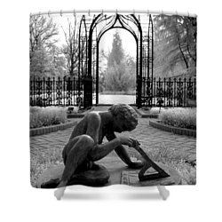 Sundial Shower Curtain by Jane Linders