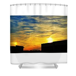 #sundog #sunset #photooftheday Shower Curtain