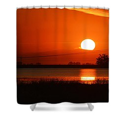 Shower Curtain featuring the photograph Sundown by AJ  Schibig