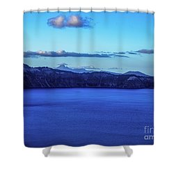 Sundown At Crater Lake Shower Curtain