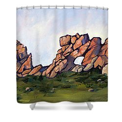Sundown At The Backbone Shower Curtain