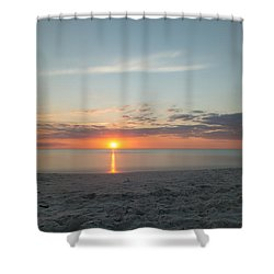 Sundown Shower Curtain by Christopher L Thomley