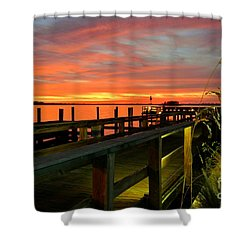 Shower Curtain featuring the photograph Sundown by Elfriede Fulda