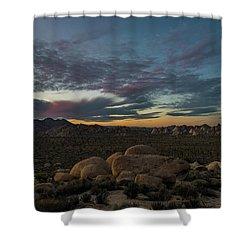 Sundown From Hilltop View Shower Curtain