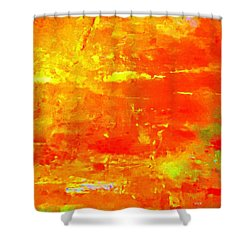 Sundown Glory Abstract Shower Curtain