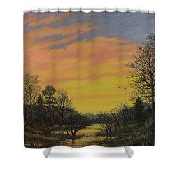Sundown Glow Shower Curtain