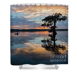 Sundown Kayaking At Lake Martin Louisiana Shower Curtain by Bonnie Barry